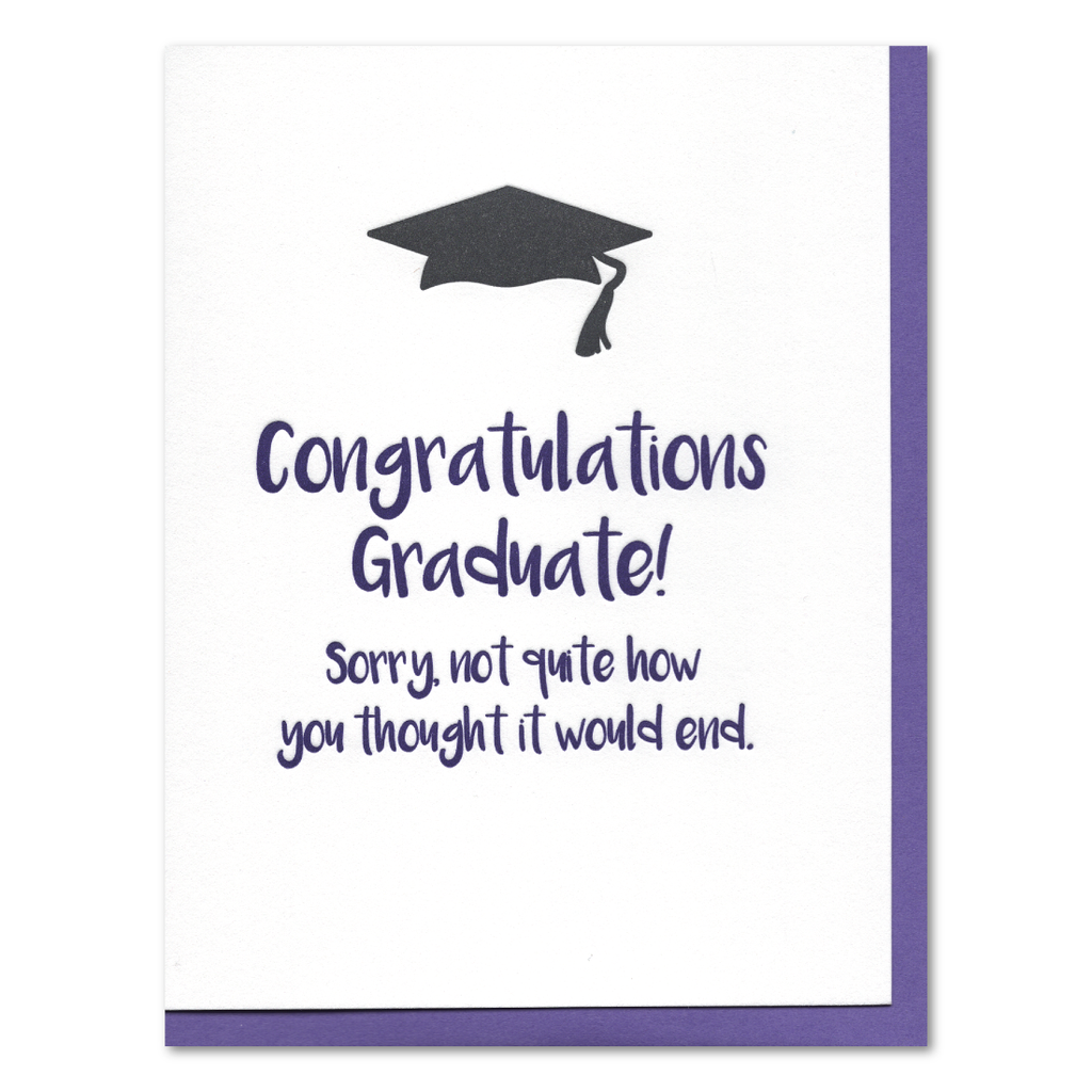 Sorry 2020 Graduation Letterpress Card