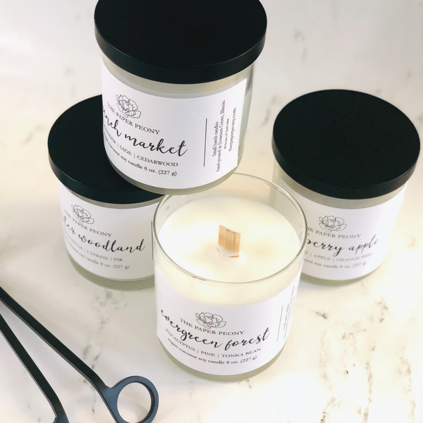 8 oz. Winter Woodland Coconut Soy Candle