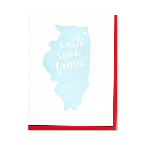 With Love from Chicago Letterpress Card