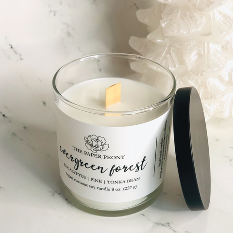 8 oz. Evergreen Forest Coconut Soy Candle