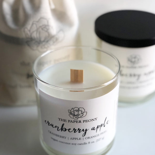 8oz. Cranberry Apple Coconut Soy Candle