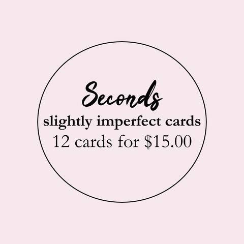 Seconds | Mystery Pack of 12 letterpress cards
