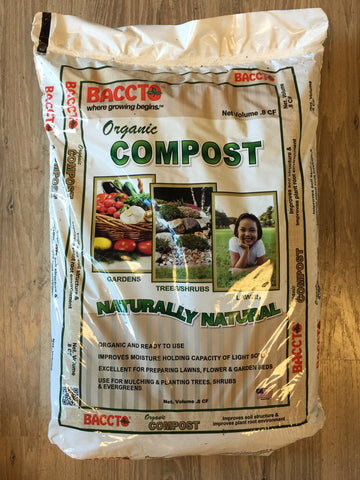 Baccto - .8 CF Organic Compost - Naturally Natural Veggie Mix - Made in USA