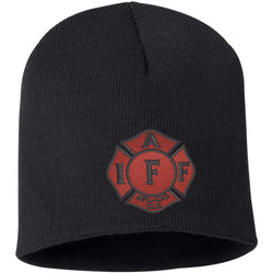 IAFF Red and Black Maltese Beanie