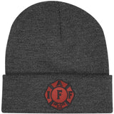 IAFF Red and Black Knit-Cuff Beanie