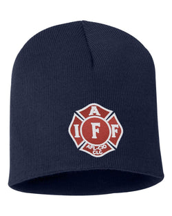 IAFF Red and White Maltese Beanie