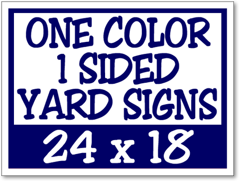 Full Color Vinyl Yard Signs
