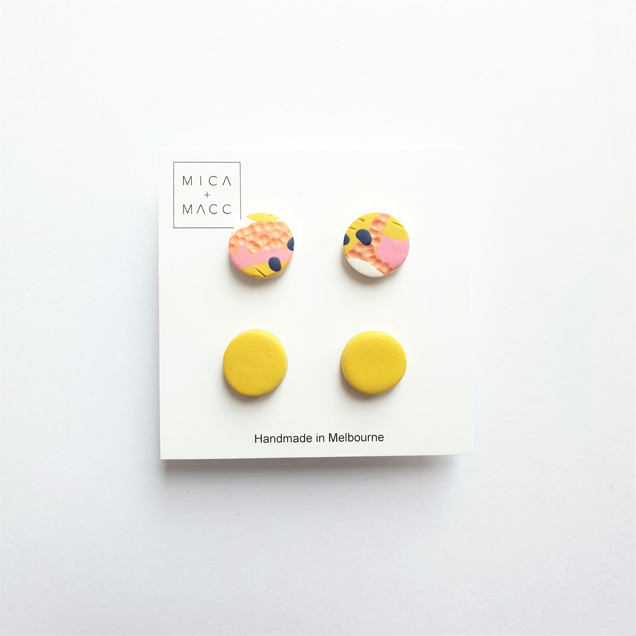 Tequila Sunrise Studs, Pack 1