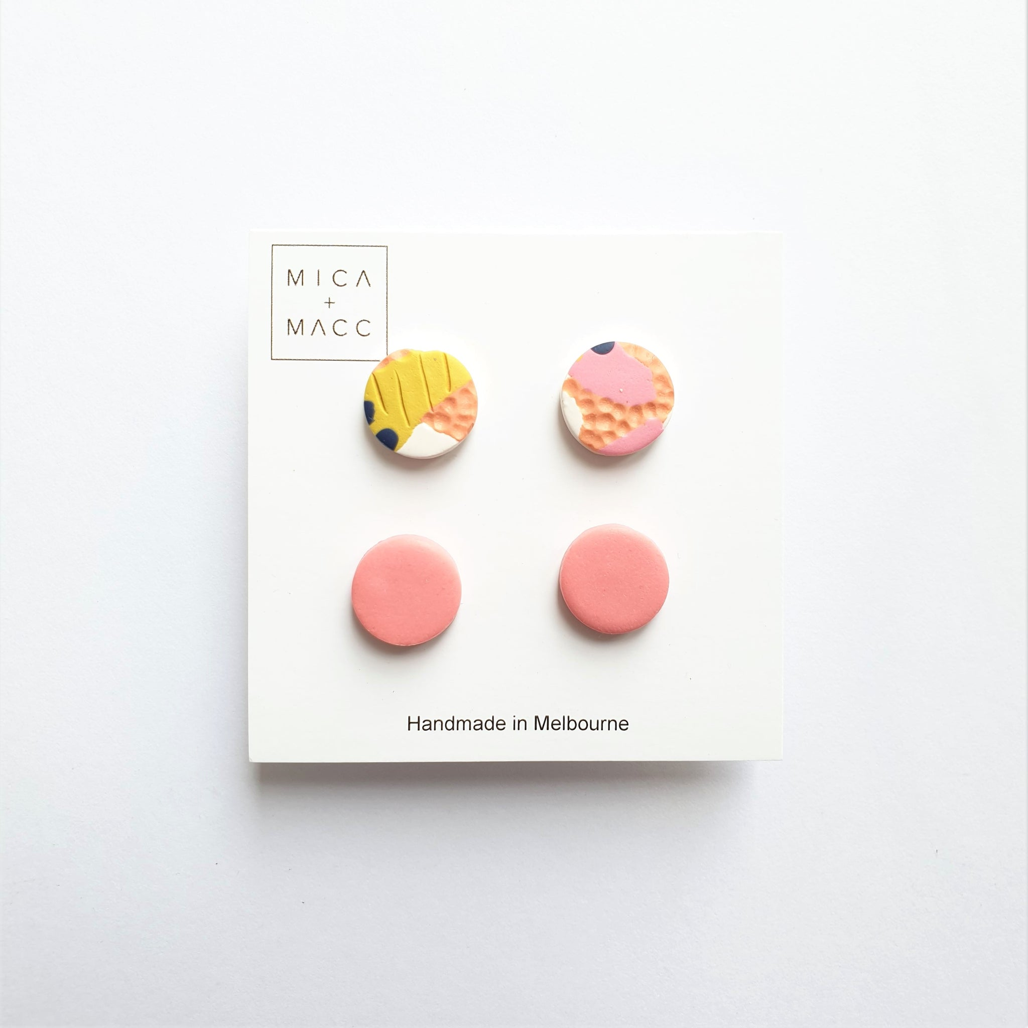 Tequila Sunrise Studs, Pack 3