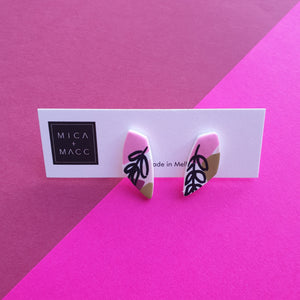 Autumn Palm Diamond Winged Studs, Small