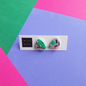 Cacti Valley Triangle Studs, Small