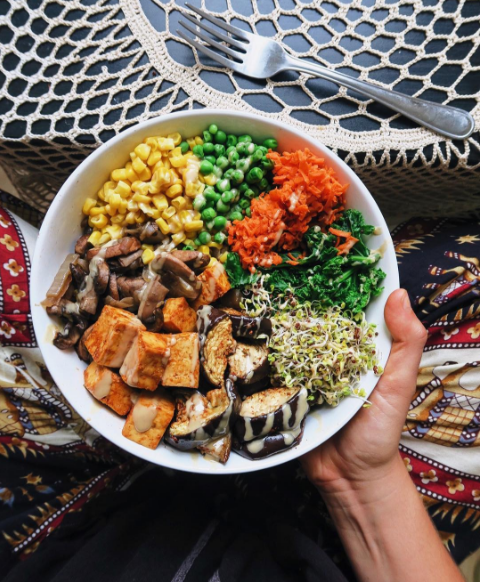 Delicious, easy and full of nutrients Veggie Bowl!