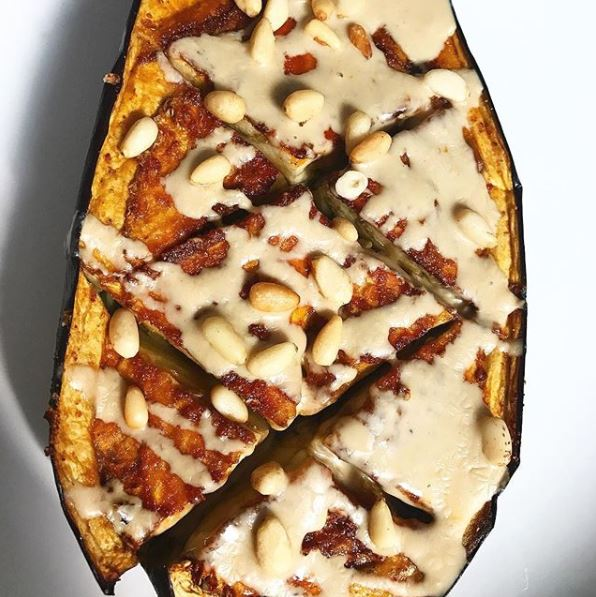 Roasted Tahini Eggplant