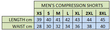 PEAK Men's Compression Shorts - Sizing