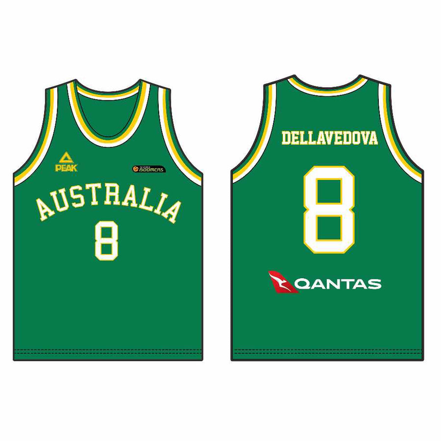 74ab65950 Official PEAK Boomers Basketball Singlet - Matthew Dellavedova (Green)