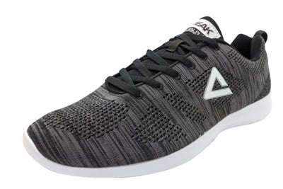 Casual Sneakers | PEAK Ath Knit - Black/White