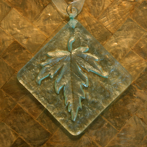 Large Silver Maple Leaf Light Catcher