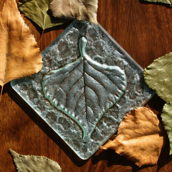 Large Aspen Leaf Light Catcher