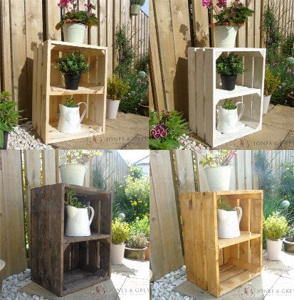 Introducing our new Wooden Crates with a Shelf. Perfect for Home or Garden.