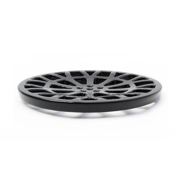 "Round 7"" 175mm Cast Metal Drain Cover Gully Grid Modern Alloy Wheel Design"