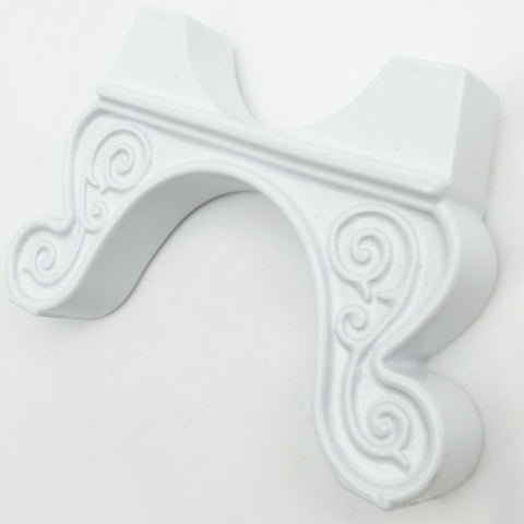 Ornate Design Foot Feet Supports for Cast Iron Column Radiator White