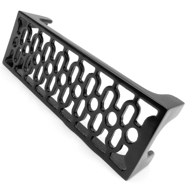 A Vintage Victorian Period Ornate Decorative Style Cast Metal Air Brick Wall Vent Black - 9 x 3""