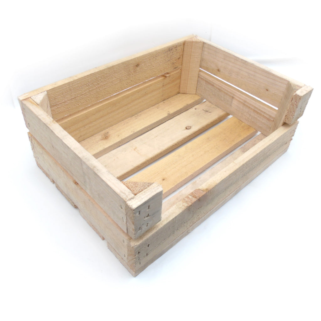 Small Wooden Crate Pet Dog Cat Kitten Bed House Cushion