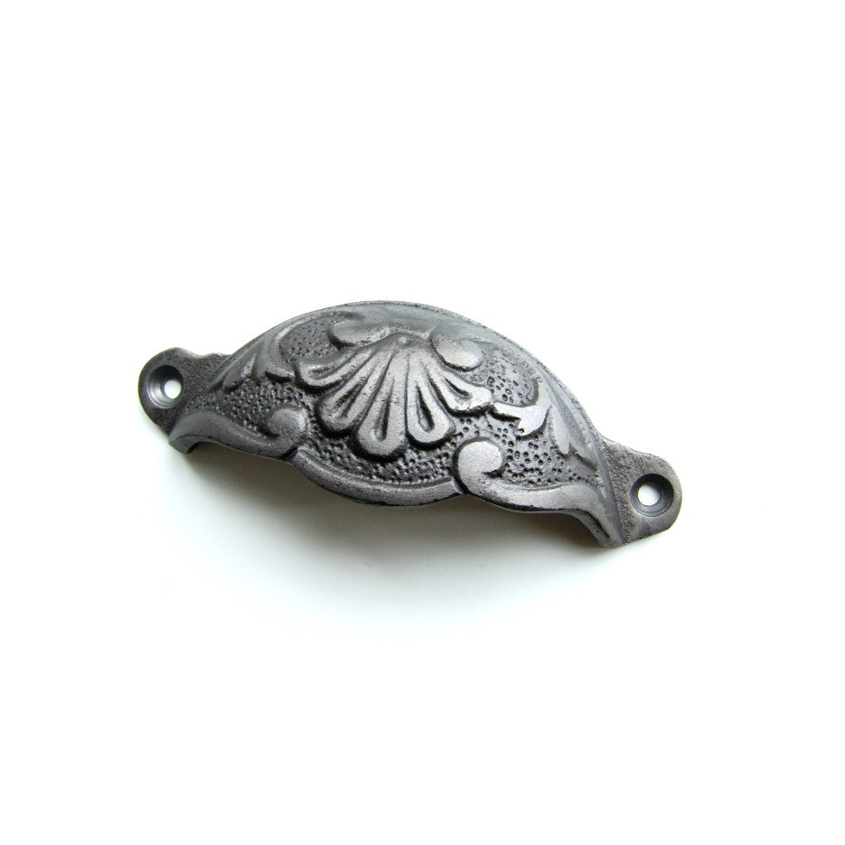 Cast Iron Cup Kitchen Handle Cabinet Chest Drawer Pull - Vintage Ornate style