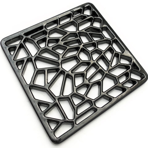 "A Geometric Design Square 6"" 150mm Cast Metal Drain Cover Gully Grid"