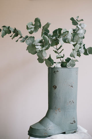 A Rustic Wellington Boot Planter Pot Decor