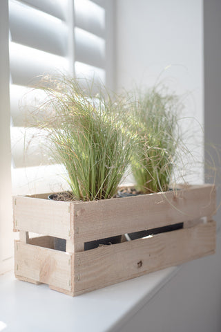A Rustic Vintage Fruit Apple Crate style Kitchen Herb Garden Spice Rack Storage Box