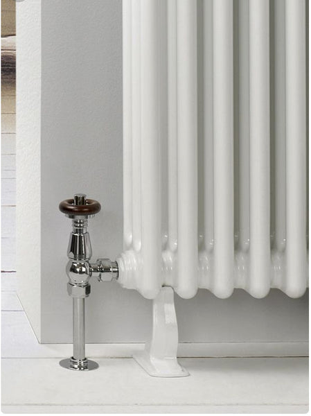 A Cast Iron Column Radiator Foot Feet Support Swan White