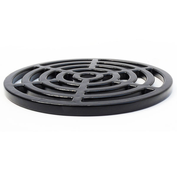 "Round 7"" 175mm Cast Metal Drain Cover Gully Grid Modern Design"