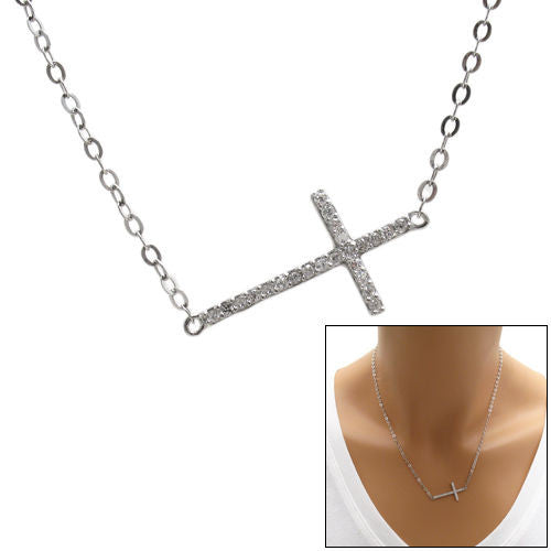 Delicate sterling silver cz cross pendant necklace wholesale delicate 023 carat micro pave cz cross pendant necklace wholesale 925 sterling silver pendant mozeypictures Image collections
