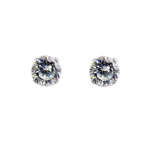 e07d527aa Sleek 0.40 Carat Round CZ Post Stud Earrings in 3mm | Wholesale Sterling  Silver Jewelry