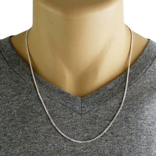 Sterling Silver Cuban Curb Chain Necklace 2mm Gauge 050