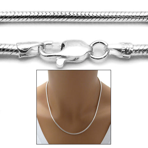 9a393cf5cd6f9f Sterling Silver Snake Chain Necklace 2.5mm (Gauge 060). Available in 6  Lengths.