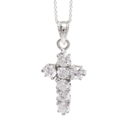 Stylish sterling silver 175ct cz cross pendant w necklace stylish 175 ct cz cross pendant with necklace options wholesale 925 sterling silver pendant aloadofball Images