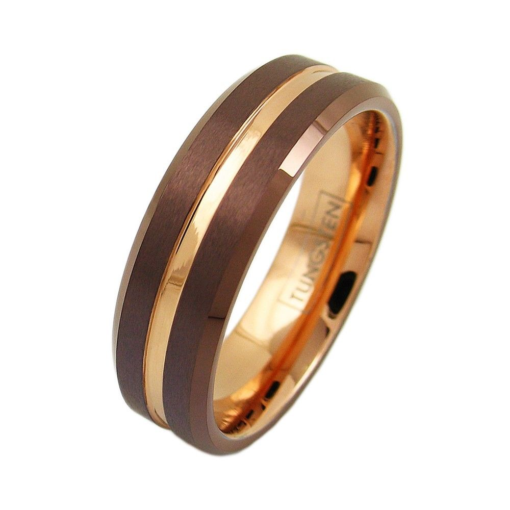bands tungsten and black luxury rings ring wedding of red men