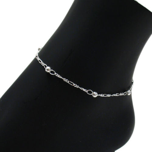 elements crystal silver swarovski bracelet bracelets to anklet black with adjustable onyx pin ankle sterling beads inch