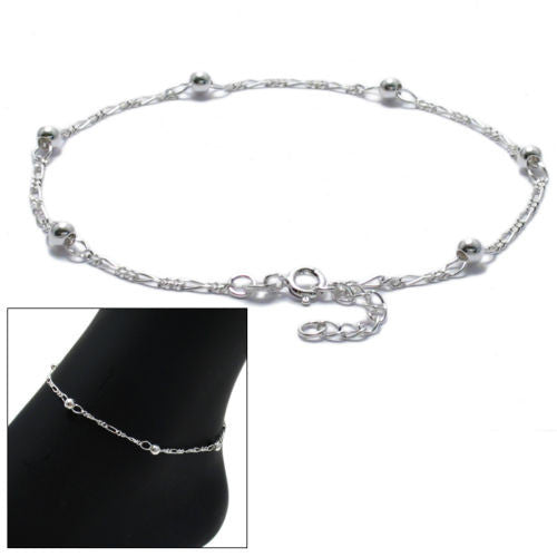 ankle pair indian length bracelet oriental sterling silver anklet foot inches shalinindia pin chain bracelets jewelry