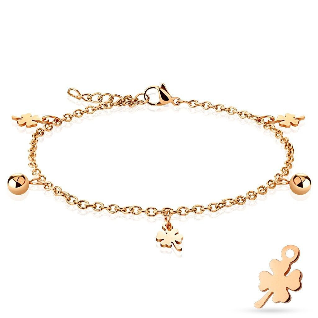 with bar name gold rose heart engravable charm anklet