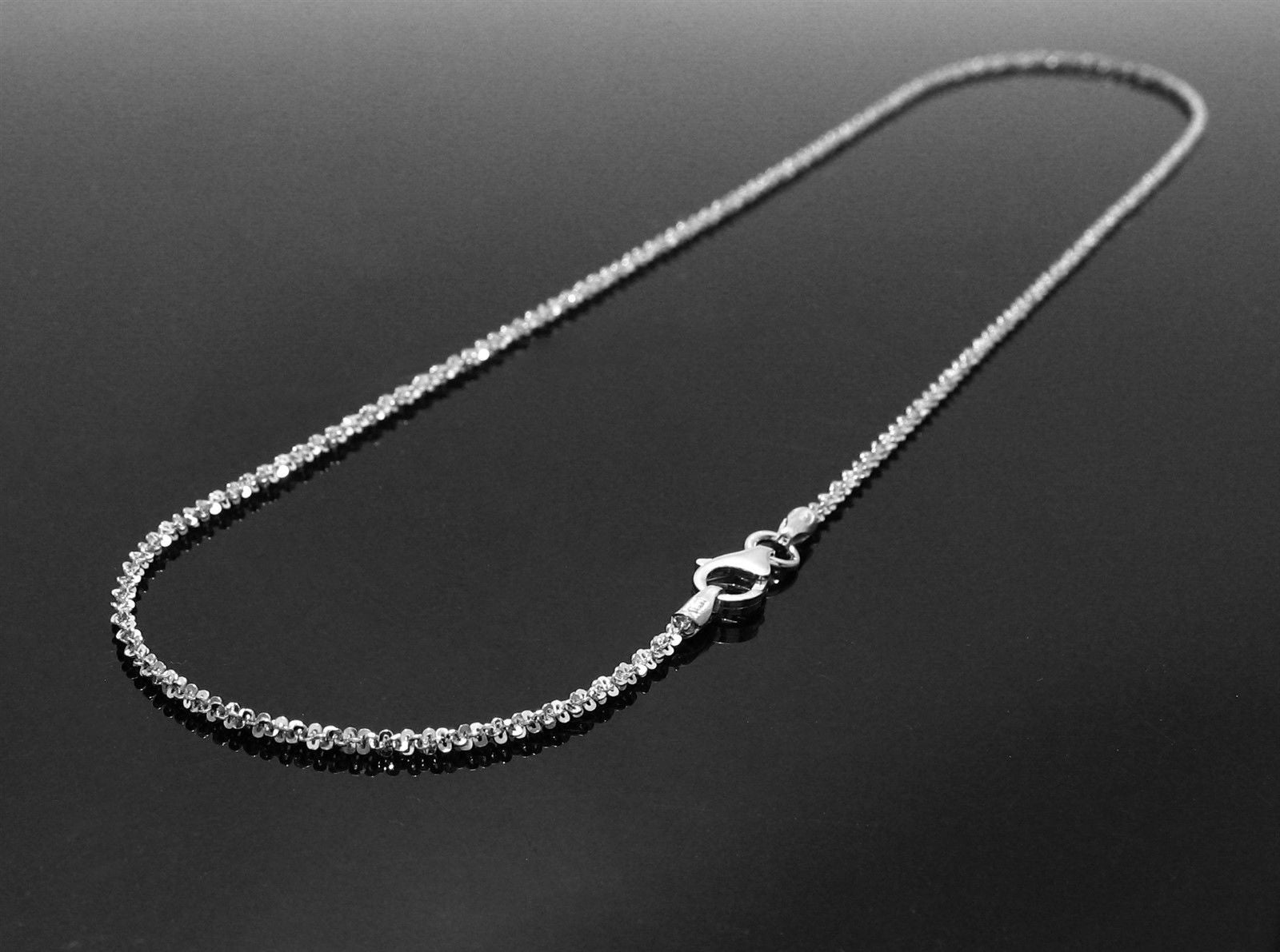 Sterling Silver Rhodium Finish Butterfly Link Necklace in 1 5mm (Gauge  030)  Available in 5 Lengths