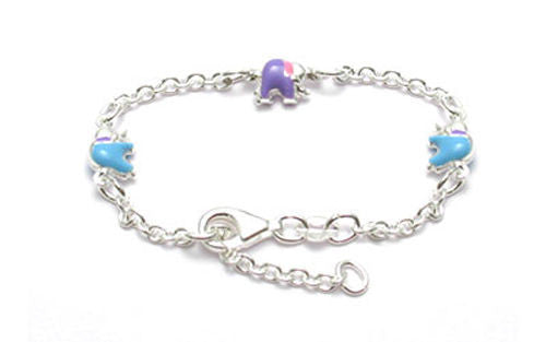 Sterling silver adjustable baby bracelet w elephant charms adjustable baby bracelet with adorable elephant charms wholesale 925 sterling silver jewelry mozeypictures Gallery