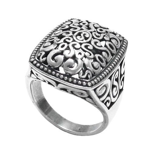 20621de1bc Wonderful Beaded Edge Decorative Multi-Swirl Ring | Wholesale 925 Sterling  Silver Jewelry | Main ...