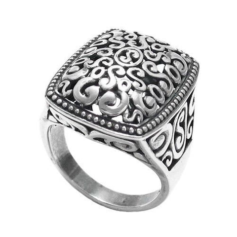 Wholesale ladies sterling silver rings without stones 925express wonderful beaded edge decorative multi swirl ring wholesale 925 sterling silver jewelry main aloadofball Image collections