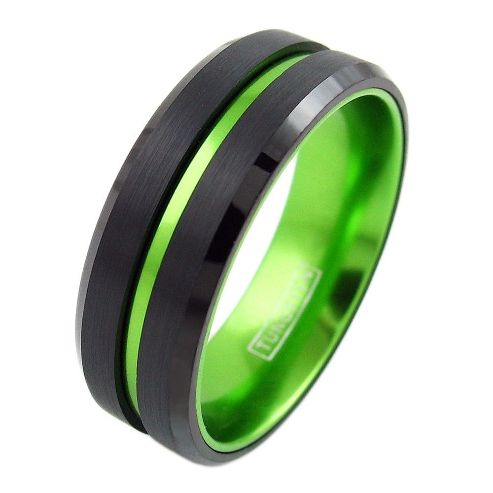 titanium sandblasted rings wedding richter green officer products il minter unique fullxfull