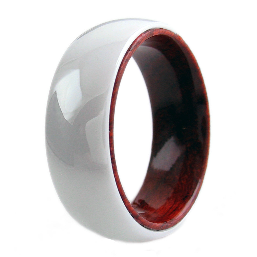 ring inlay ebony comfort antler ceramic fit band black rings wood deer products wedding dsc