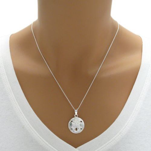 Sterling silver sand dollar pendantcharm wholesale 925express adorable and well detailed sand dollar pendant wholesale 925 sterling silver jewelry alternate photo aloadofball Image collections