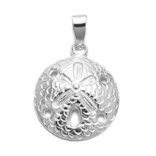 Sterling silver sand dollar pendantcharm wholesale 925express adorable and well detailed sand dollar pendant wholesale 925 sterling silver jewelry item photo aloadofball Image collections